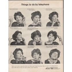 "1966 AT&T Bell System Ad ""Things to do by telephone"""