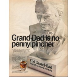 "1966 Old Grand-Dad Bourbon Ad ""penny pincher"""