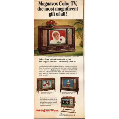 "1966 Magnavox Color TV Ad ""most magnificent gift of all"""