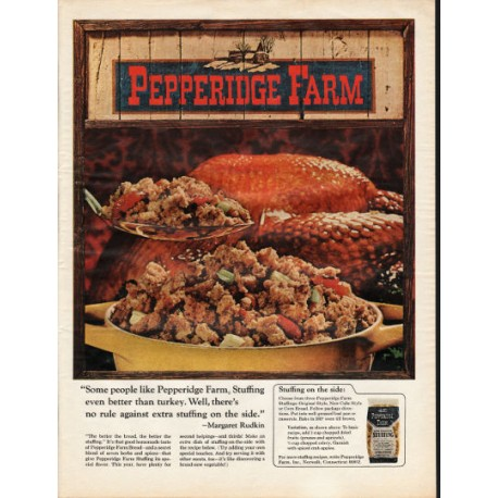 "1966 Pepperidge Farm Ad ""Stuffing even better"""
