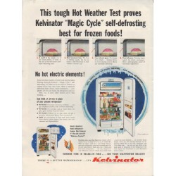 "1952 Kelvinator Ad ""Hot Weather Test"""