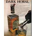 "1966 Canadian Lord Calvert Ad ""Dark Horse"""