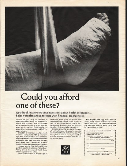 "1966 New York Life Vintage Ad ""Could you afford one of these?"""