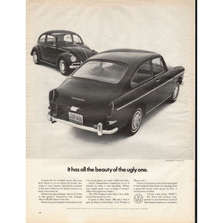 "1967 Volkswagen Fastback Ad ""all the beauty"" ~ (model year 1967)"
