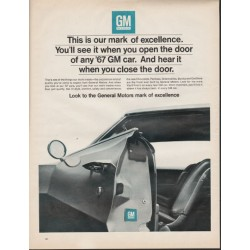 "1967 General Motors Ad ""This is our mark of excellence"" ~ (model year 1967)"