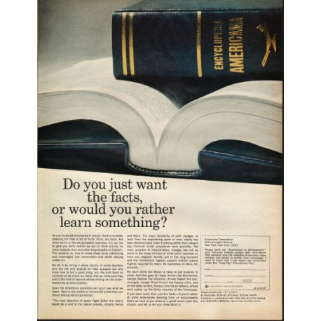 "1966 Encyclopedia Americana Ad ""Do you just want the facts"""