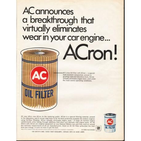 "1966 AC Oil Filter Ad ""a breakthrough"""