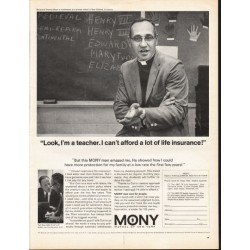 "1966 Mutual of New York Ad ""Look, I'm a teacher"""
