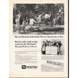"1966 Maytag Washer & Dryer Ad ""The 12 Michuda kids"""