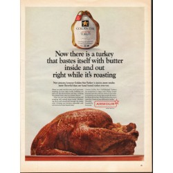 "1966 Armour Golden Star Turkey Ad ""turkey that bastes itself"""