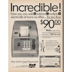 "1966 Smith-Corona Ad ""Incredible"""