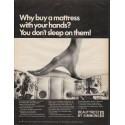 "1966 Beautyrest by Simmons Ad ""Why buy a mattress"""