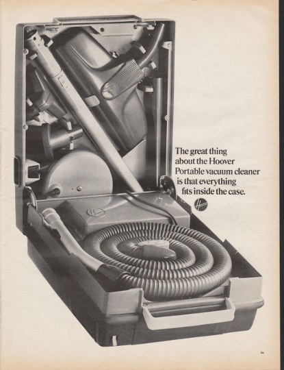 1966 Hoover Portable Vacuum Cleaner Vintage Ad Quot The Great