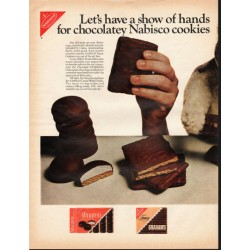 "1966 Nabisco Cookies Ad ""show of hands"""