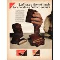 """1966 Nabisco Cookies Ad """"show of hands"""""""