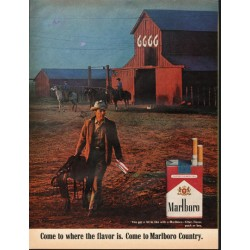 "1966 Marlboro Cigarettes Ad ""filter, flavor, pack or box"""