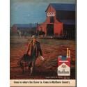 "1966 Marlboro Cigarettes Ad ""filter, flavor, pack or box"""