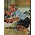 "1966 Quaker Oats Ad ""Hot oatmeal is cool"""