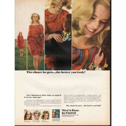 "1966 Clairol Hair Color Ad ""The closer he gets"""