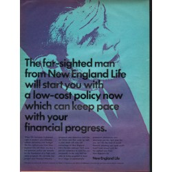"1966 New England Life Ad ""The far-sighted man"""