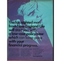 "1966 New England Life Ad ""The far-sighted man"""