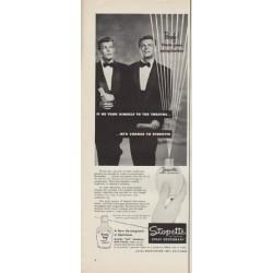 "1952 Stopette Spray Deodorant Ad ""Poof!"""