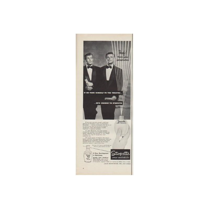 1952 Stopette Spray Deodorant Ad Quot Poof Quot