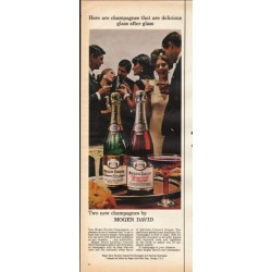 "1966 Mogen David Wine Ad ""Two new champagnes"""