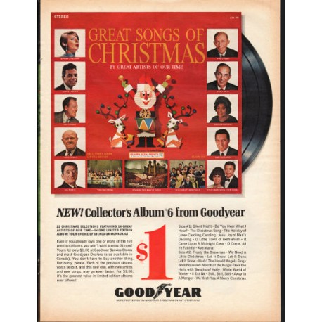 "1966 Goodyear Songs of Christmas Ad ""Collector's Album No. 6"""