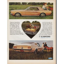 "1967 Ford Mustang Ad ""Bred first to be first"" ~ (model year 1967)"