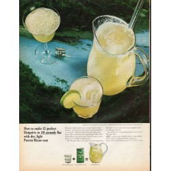 "1966 Rums of Puerto Rico Ad ""12 Perfect Daiquiris"""