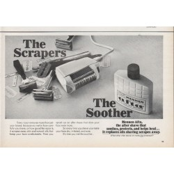 "1966 Mennen Afta after shave Ad ""The Scrapers"""