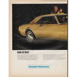 "1967 Chevrolet Camaro Ad ""Look at that"" ~ (model year 1967)"