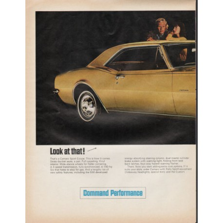 """1967 Chevrolet Camaro Ad """"Look at that"""" ~ (model year 1967)"""