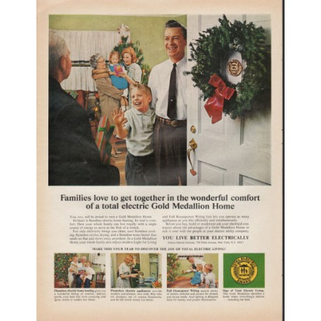 "1966 Gold Medallion Home Ad ""love to get together"""