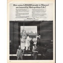 "1966 Metropolitan Life Insurance Ad ""people in Missouri"""