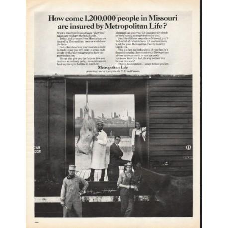 "1966 Metropolitan Life Insurance Ad ""people in Missouri"""
