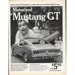 "1967 Ford Mustang GT Toy Ad ""Just in time for Christmas"" ~ (model year 1967)"