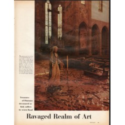 1966 Ravaged Realm of Art Article ~ Treasures of Florence devasted