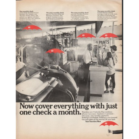 """1966 Travelers Insurance Ad """"Now cover everything"""""""