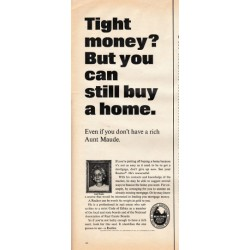 "1966 National Association of Real Estate Boards Ad ""Tight money"""