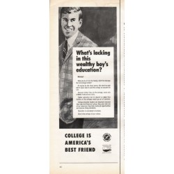 "1966 Council for Financial Aid to Education Ad ""What's lacking"""