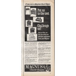 "1966 Magnus Chord Organs Ad ""Put us to the test"""