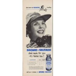 "1952 Bromo-Seltzer Ad ""Don't ever let Headache interfere"""