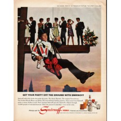 "1966 Smirnoff Vodka Ad ""Get your party off the ground"""