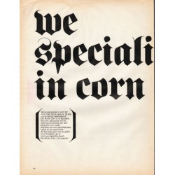 "1966 Del Monte Corn Ad ""we specialize in corn"""