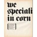 """1966 Del Monte Corn Ad """"we specialize in corn"""""""