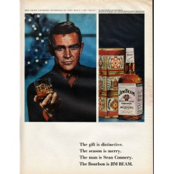 "1966 Jim Beam Ad ""See Sean Connery """