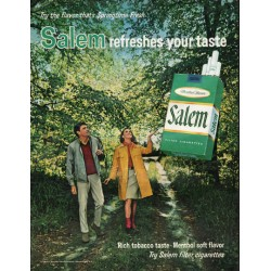 "1966 Salem Cigarettes Ad ""the flavor that's Springtime Fresh"""