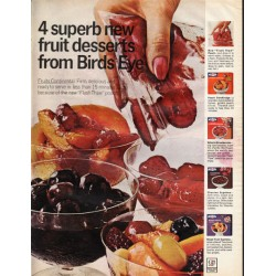 "1966 Bird's Eye Desserts Ad ""4 superb new fruit desserts"""
